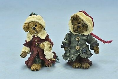 Boyds Bearstone Matthew & Bailey Resin Christmas Ornaments Style 9227Rsn #06104