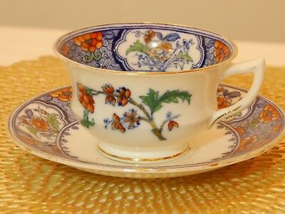 Very RARE SIGNED Antique Aynsley Bone China Tea Cup and Saucer Early 1900s