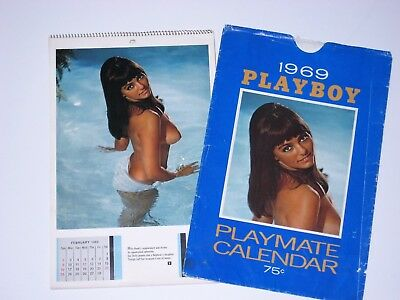 Vintage Old Playboy Wall Calendar W/original Sleeve 1969 - Very Nice