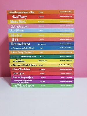 Treasury Of Illustrated Classics Hardcover Books Lot Of 18