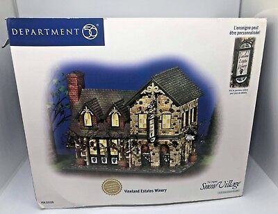 Dept. 56 Snow Village Vineland Estates Winery Numbered Ltd Ed. 20,000 RETIRED