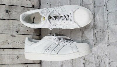 NEW Adidas Superstar Leather Boost BB0187 Vintage White Gold Met MEN'S SIZE 13