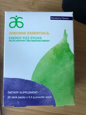 Arbonne Fizz Sticks Blackberry *Damaged Box*