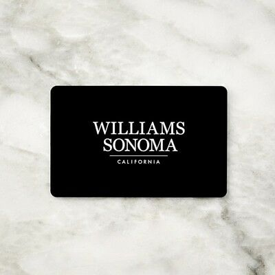 Williams Sonoma * West Elm * Pottery Barn - Gift Card Value $250