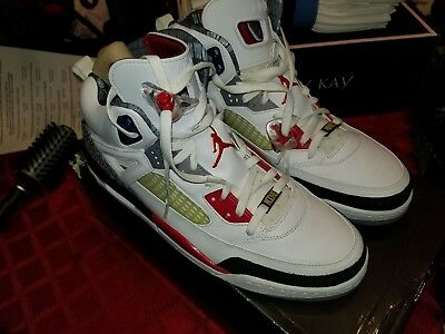 detailed look bf6e3 282a5 ... sale  2009 nike jordan spizike white fire red black 315371 165 size 15
