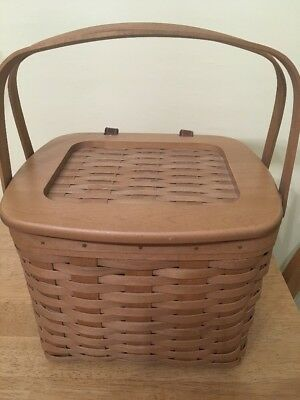 2003 Longaberger Weekender Basket w/ 2 Piece Divided Protector Set