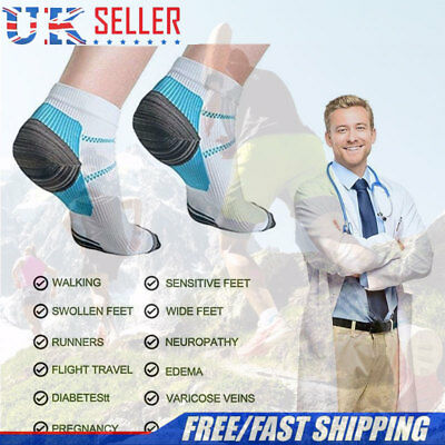 Unisex Ankle Socks Plantar Fasciitis Heel Arch Pain Relief Support Compression