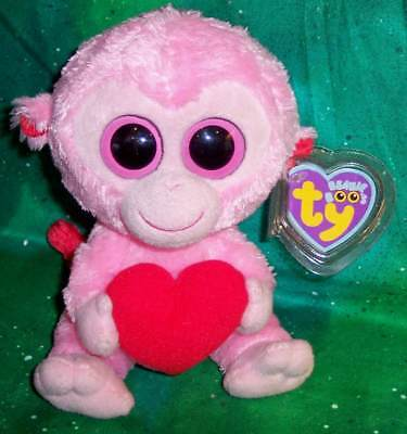 d2ba4196a9b New Retired Ty Beanie Boo Boos 2011 Valentine s Day Julep Pink Monkey 6