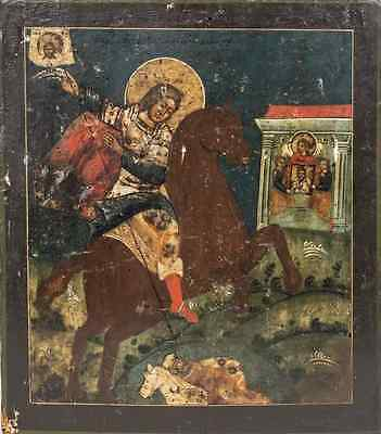 Antique Greek Icon of Saint Demetrios