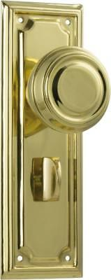 TH1056P brass edwardian privacy handles,round knob with backplates,185 x 60mm