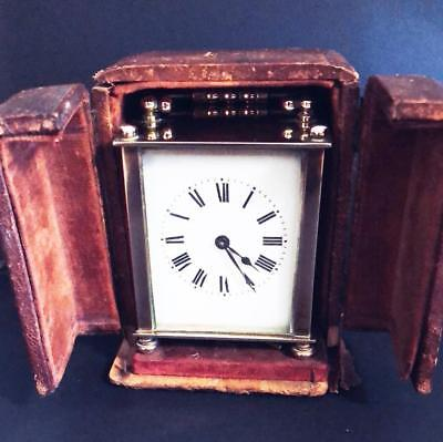Antique Brass French Miniature Carriage Clock Fully working