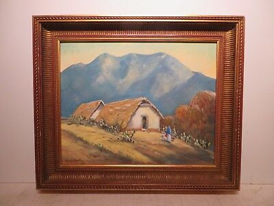 "16x20 org 2015 oil painting on canvas by Hardy Martin of ""Mexican Mountain Huts"""