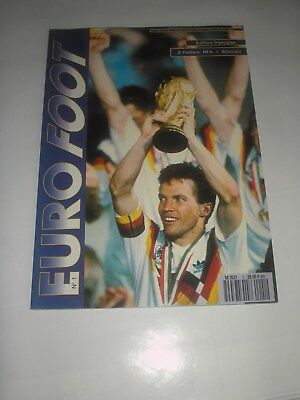 football futbal EURO FOOT N° 1 L'EQUIPE D'ALLEMAGNE DEUTSCHLAND WORLD CUP 1990