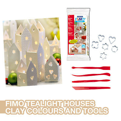 Fimo Air Christmas House Tealight Making Kit