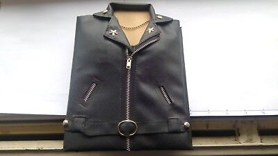 Leather Coat Bikers Jacket  Postcard Album Holds 50 Postcards In Clear Sleeves