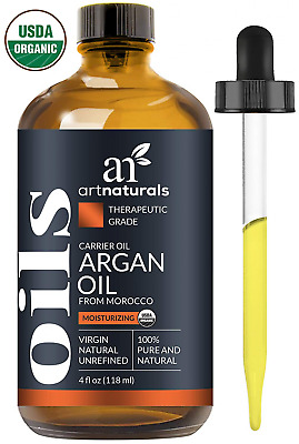 Pure Morrocan Argan Oil for Hair Face And Skin Extra Virgin Cold Pressed 4 oz