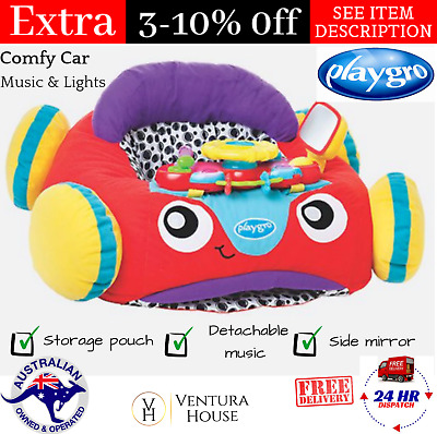 Playgro Music & Lights Comfy Car Baby Soft Rattling Balls Toy for Infant Toddler