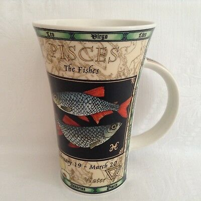 LARGE DUNOON ZODIAC MUG - PISCES - JACK DADD - Ex. Cond.