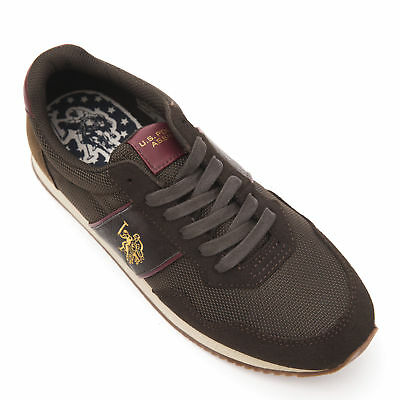 U.S. POLO ASSN. Sneakers Size 42 / UK 8/8.5 Eco Leather Trim NOBIL4044S6/NH4