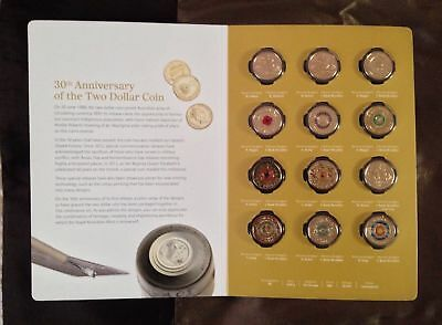 2018 $2 Twelve Coin Uncirculated Set - 30th Anniversary Postage FREE- e-parcel