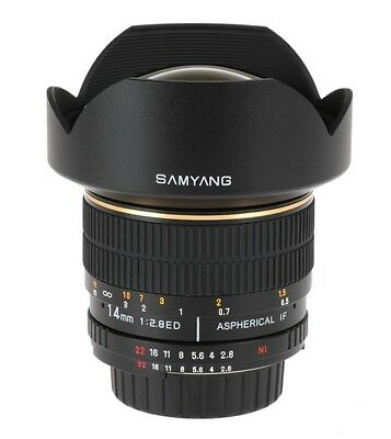 Samyang 14mm f/2.8 ED AS IF UMC Samsung NX FREE UPS COURIER 48H in EU SALE