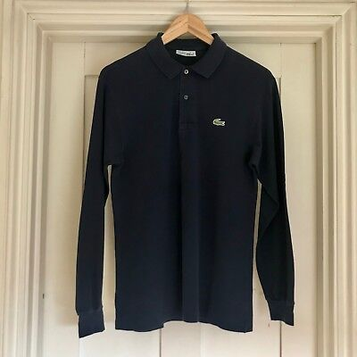 Vintage LACOSTE, polo shirt, long sleeve, navy, Size 3