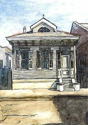 100% Hand Painted Art FRENCH QUARTER JACKSON SQUARE NEW ORLEANS LOUISIANA