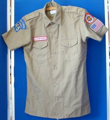 EUC Official ROYAL Discovery RANGERS Uniform SHIRTS by GOSPEL HOUSE 14 YOUTH Tan