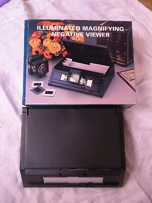 Jobar's Illuminated Magnifying Negative Viewer with Accessories New Never Used