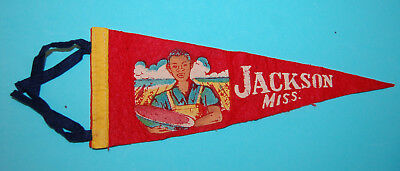 Vintage Jackson, Mississippi racist boy with watermelon pennant 11""