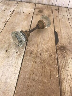 Antique vintage glass door handles knob