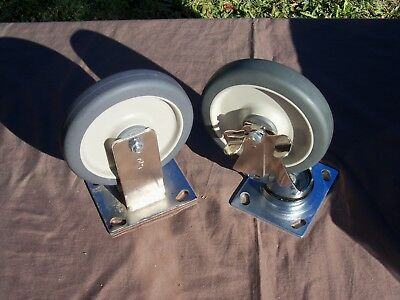 """Jarvis Caster 6"""" Gray Rubber Wheel (qty of 2)"""