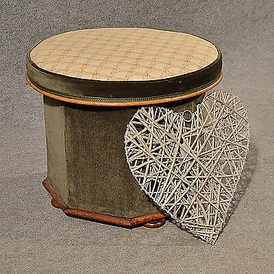 Antique Ottoman Stool Dressing Sewing Box Seat Quality English Victorian c1880