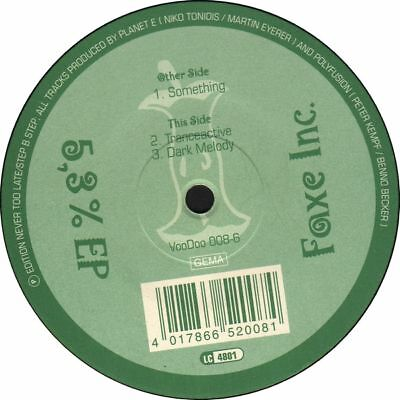 "12"" Faxe Inc. 5,3 % EP Voodoo Records Rave Hit *neu* 1995"