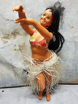 vintage plastic hula girl 14 inches tall