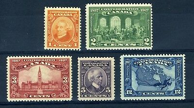 CANADA Scott 141 to 145 - H / NH - Complete Set of 60th Anniversary (.035)
