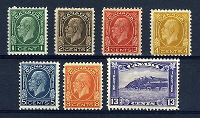 CANADA Scott 195 to 201 - NH - Complete Medallion Set (.043)