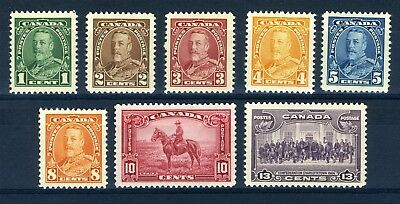 Canada Scott 217 to 224 - M / H - King George V Pictorial (.038)