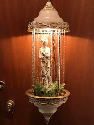 Vintage Electric Greek Goddess Rain Mineral Oil Motion Lamp