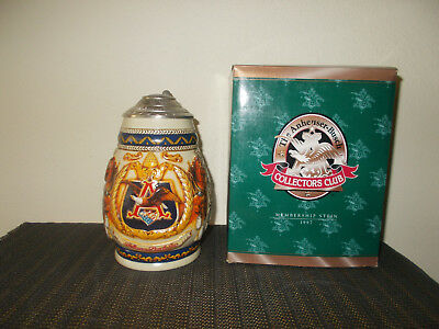 1997 Anheuser Busch Membership Collectors Club Lidded Beer Stein Cb5 Tradition