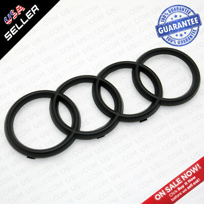 AUDI Q7 Matte Black Front Grille Rings Badge Logo Emblem Decoration Modified 4M0