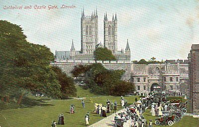 Old Jay Em Jay Postcard 1906 - Lincoln - Cathedral And Castle Gate