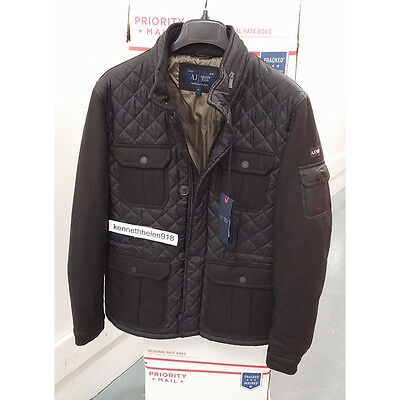 d4e7cdba8515 ARMANI JEANS MENS Quilted Nylon   Flannel Puffer Jacket Size S(Eu48 ...