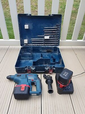 Bosch GBH 24v SDS plus professional Hammer drill 2x24v batteries,charger & bits.