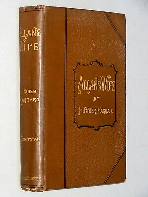 ALLAN'S WIFE & Other Tales - H. Rider Haggard (1889 1st Ed) Quatermain + Fantasy