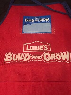 Lowes Build and Grow Red Child's Apron Kids Craft