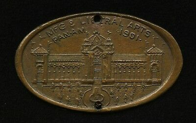 1901 PAN-AMERICAN EXPOSITION MFG LIBERAL ARTS ELONGATED INDIAN HEAD 1c NY PAE 10