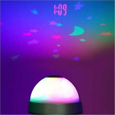 Hot Digital Magic LED Projection Starry Night Color Changing Alarm Clock