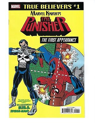 True Believers: Punisher The First Appearance # 1 (Asm #129, Nov 2018), Nm New
