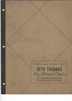 1931 SETH THOMAS Key Wound Clocks Catalog 785 Eight Thirty Day Regulator Marine